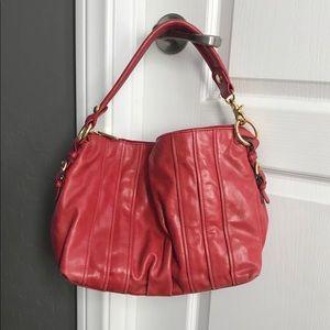 Red Badgley Mischka shoulder bag